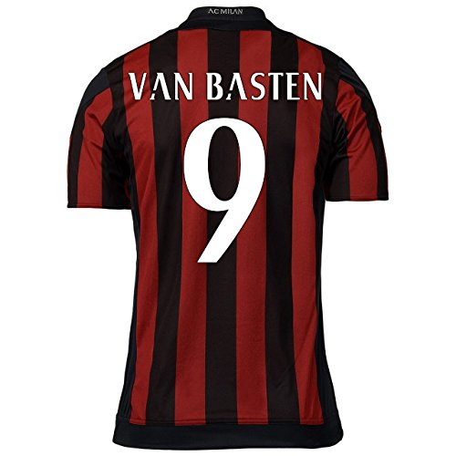 2015-16 AC Milan Home Shirt (Van Basten 9) Kids B077XVLY3PRed Large Boys 30-32\