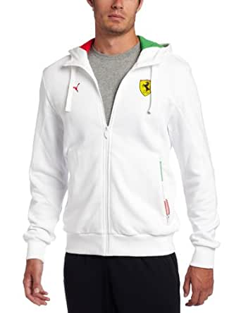 PUMA Men's Sf Hooded Sweat Jacket - White - X-Large