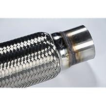 "2.5"" X 8"" X 12"" Mild Steel Exhaust Flex Pipe Universal Fit Flex Tube"