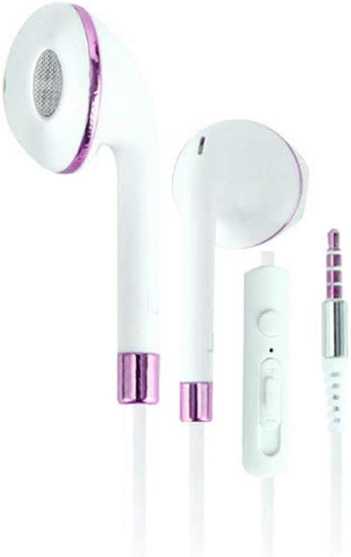 WYKsoku Bluetooth Earphones Headphones, Universal 3.5mm Super Bass Music in-Ear Stereo Headphones Earphones with Mic - Rose