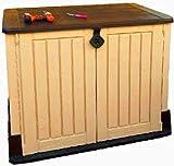 Horizontal Storage Shed Garden Garbage Outdoor Box Tool Gardening Kit Large Organizer Door Lock Gardener Hut & Ebook by AllTim3Shopping.