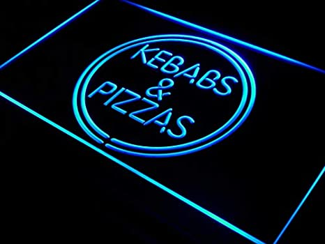 Cartel Luminoso ADV PRO i588-b Kebabs & Pizzas Shop Pizza Cafe Neon Light Sign