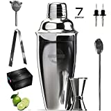Are you an expert or a beginner who wants to start mixing and do bartending like a pro? Kitchwise Cocktail Shaker Set is the best choice for you. This super-easy-to-use kit will surely make you fall in in love. Package Includes: -750 ml TIN w...