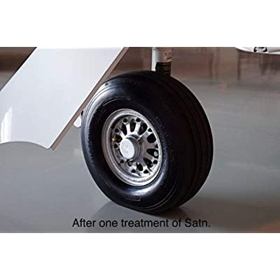 SATN, Once A Year - Our Highest UV Reflective Value: Restorer Plastic and Vinyl, Renew Color, Prevents Tire Dry Rot – Weather- and Salt-Proof, UV Block, Med. Gloss Dry-Seal – 16oz Kit: Automotive