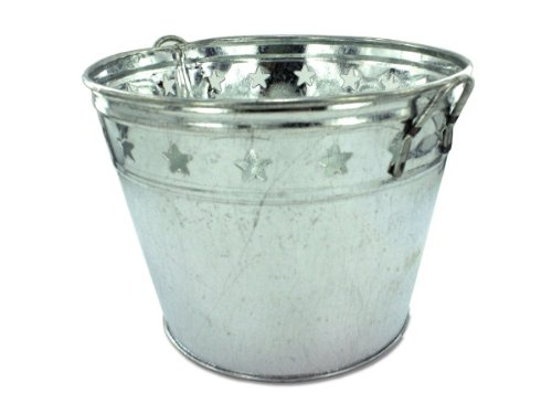Tin bucket with stars - Pack of 24