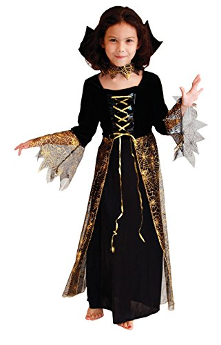 La Vogue Halloween Fancy Dress Costume Girls Spider Midnight Mischief Costume Black (Midnight Vampire Costume Child)