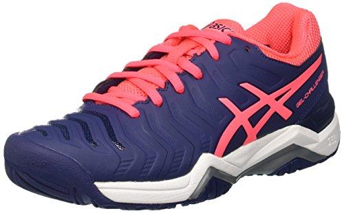 Asics Gel-Challenger 11, Zapatillas de Gimnasia para Mujer Azul (Indigo Blue/diva Pink/silver)