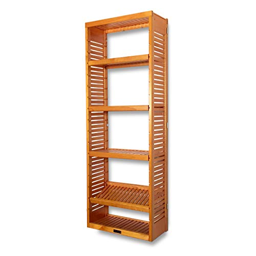 John Louis Home 12in. Deep Storage Tower - Honey Maple Finish ()