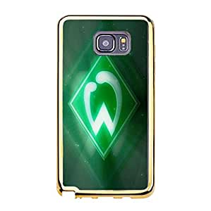FC?Werder?Bremen Phone Case for Samsung Galaxy Note 5 Official Fashion SV?Werder?Bremen Football Club Logo Plastic Gold Frame Phone Shell Case