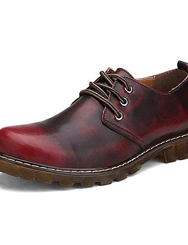 uk6 cn44 Tacón Marrón Deporte brown Exterior uk9 cn44 eu43 us8 us11 Patines brown de Zapatos cn39 de Plano eu39 us11 Confort Casual mujer ZQ uk9 eu43 Cuero Rojo Oxfords red Napa tvC6qwRxx