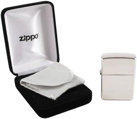 Zippo【ジッポー】 純銀 (スターリングシルバー) #15 ラウンドトップ ミラー仕上げ