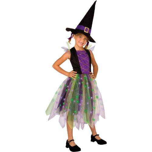 Light-Up Rainbow Witch Child Costume, Large -