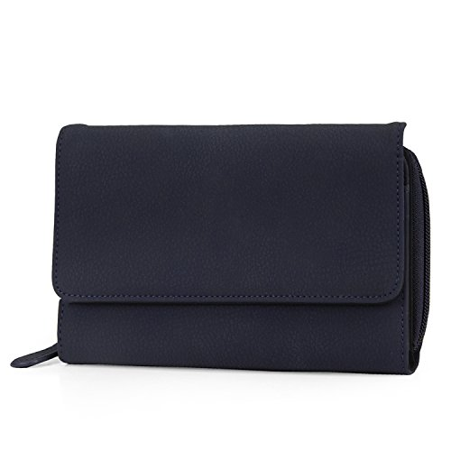 Mundi Big Fat Wallet Womens RFID Blocking Wallet Card Carrier Clutch Organizer (Best Mundi Woman Wallets)