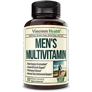 Gut Health Shop 41IzFu8yr%2BL._SS300_ Men's Daily Multimineral Multivitamin Supplement. Vitamins A C E D B1 B2 B3 B5 B6 B12. Magnesium, Biotin, Spirulina…