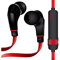 Naztech NX80 Wireless Earphones, HD Stereo Sound with Enhanced Bass, Bluetooth 4.1 Technology, Built-in Mic & Remote, 6hr Battery for iPhone/iPad/iPod/Android Smartphones & Tablets (RED/BLACK)