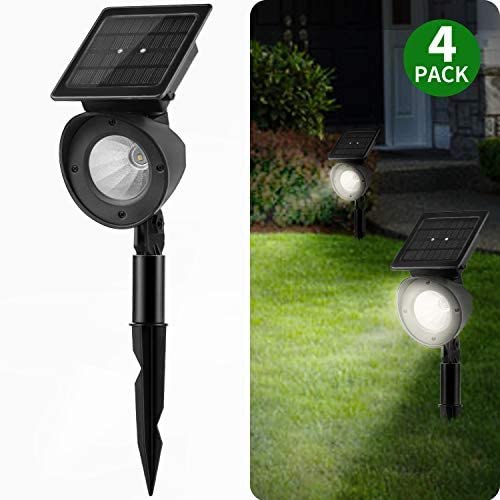 Solar Landscape Spotlights, Brightown Waterproof Adjustable Outdoor Led Spot Lights Wireless Automatic Landscaping Light for Yard Driveway Garden Pathway Lawn Walkway Pool Patio Pack of 4