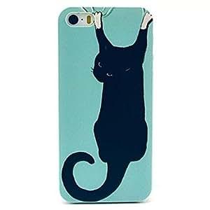 SHOUJIKE Black Cat Pattern Design Plastic Hard Case for iPhone 4/4S