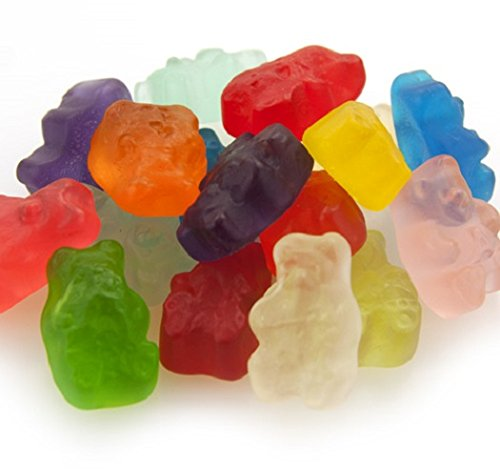 - Gourmet (12 Flavors) Gummi Gummy Bears Candy 1 Pound Bag by Albanese Confectionery