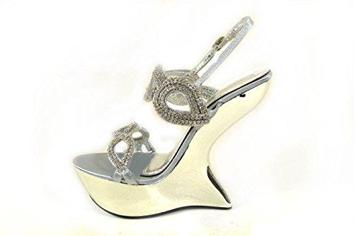 pour Sandales 20 Silver femme SKO'S D78 qw57YpWxP