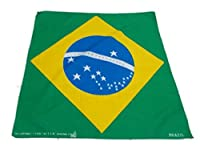 50x50 cm Brazil Handkerchief Cotton pocket square Hanky Bandana Scarf Hankie Headband World Cup Brazil Flag