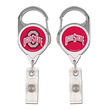 Sided Holder The Badge Office 2 Premium University Id Amazon com Work Buckeyes Logo Ohio Products State