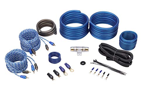 Rockville RWK42 4 Gauge 4 Chan Car Amp Wiring Installation Wire Kit (2) RCA
