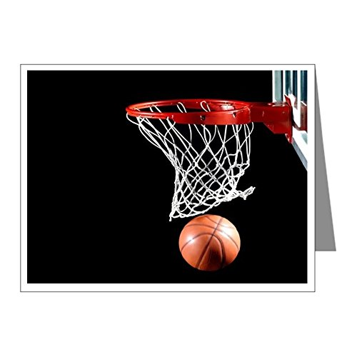 CafePress - Basketball Point Note Cards - Blank Note Cards (Pack of 20) Glossy