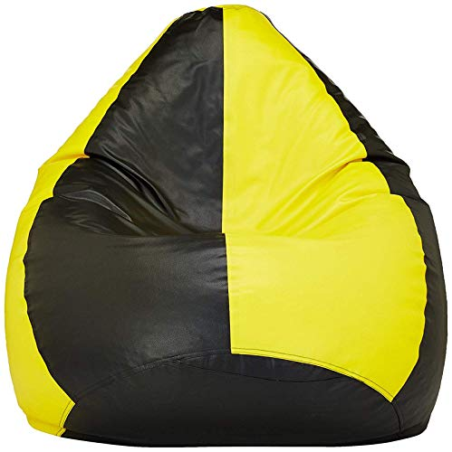 VSK XXXL Bean Bag Cover Yellow  amp; Black  Without Beans
