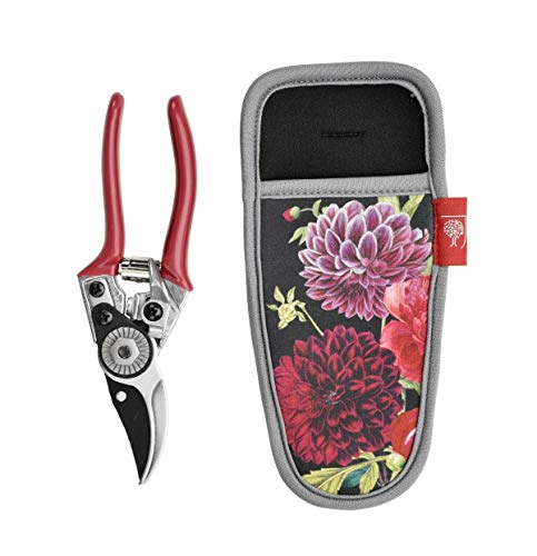 - Burgon & Ball Secateurs Pruners & Holster Set in RHS British Bloom Design | Garden Tool Set Gift for Her