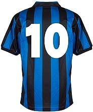 Score Draw Inter Milan Home No.10 Retro Jersey 1990-1991 (Retro Flock Printing)
