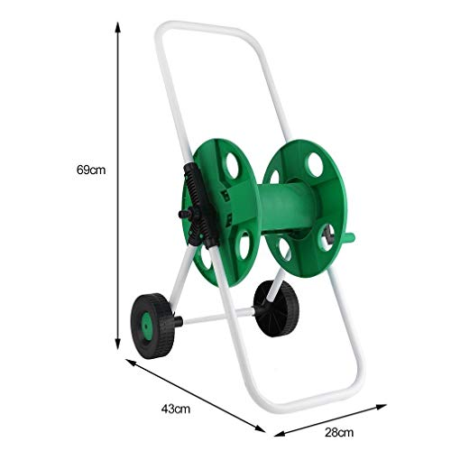 J&T Hose Reel Mobile Rolling Cart Storage Holder Outdoor Garden Water Pipe, 150 ft. by J&T Jordan (Image #8)