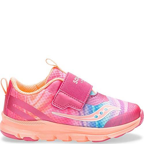 Saucony Baby Liteform Sneaker, Pink/Multi, 050 Medium US Toddler