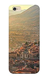 Iphone 6 Plus Case Cover - Slim Fit Tpu Protector Shock Absorbent Case (luca Montanari Photography Celano Italyworld Architecture Buildings Cities Castle Mountains Hills Sunlight Scenic View Panorama ) Kimberly Kurzendoerfer