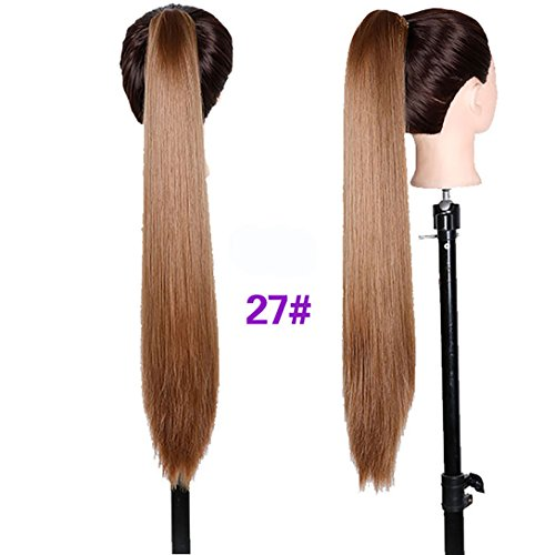 DIFEI HAIR Long Straight Ponytail Long Hair Natural Fake Hair Tail Hairpieces Women Hairstyles Heat Resistant Fake Hair (27#)
