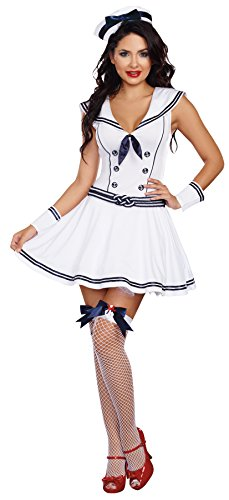 [UHC Women's Boat Rockin Babe Theme Party Fancy Dress Outfit Halloween Costume, L (10-14)] (Rockin The Boat Costumes)