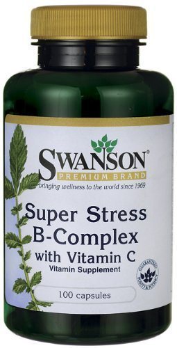 Super Stress B Complex 100 Caps (Pack of 3) by Swanson Vitamins