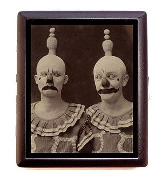 Amazon art deco nouveau circus clown image on business card art deco nouveau circus clown image on business card wallet cigarette case colourmoves