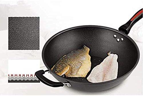 Pot Casseroles Poêles Casserole Casserole Poêle À frire Non Stick wok Poêle À Cuire Poêle À Casserole À Poêle 34Cm Poêle À Gaz Cuisinière À Fumée