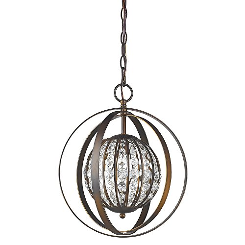 Acclaim Lighting IN11097ORB Olivia Indoor 1-Light Pendant with Crystal, Oil Rubbed Bronze