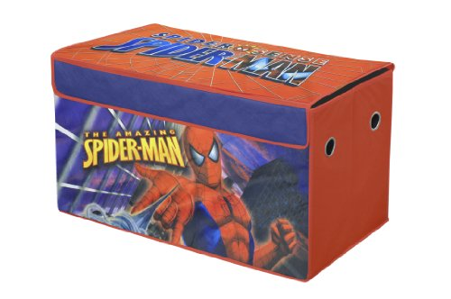 Spider Man Toy Box - Marvel Spiderman Collapsible Storage Trunk