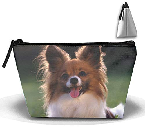 A Cute Little Papillion Travel Toiletry Bag Makeup Bag Carry on Cosmetic Bag Travel Storage Pouch