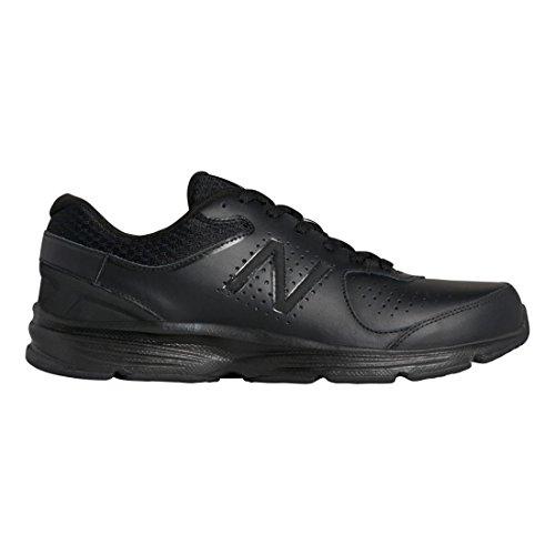 - New Balance Men's MW411v2 Walking Shoe, Black, 10.5 2E US