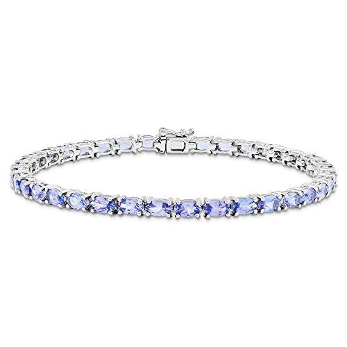 Bracelet en argent Sterling avec Tanzanite JewelryWeb
