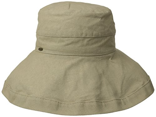 d35beb66 Scala Women's Cotton Big Brim Hat, Taupe, One Size