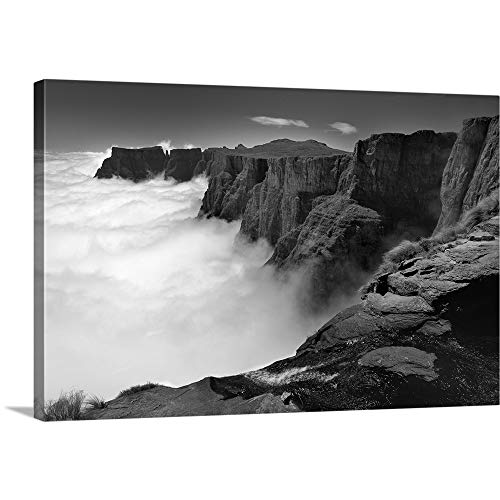 GREATBIGCANVAS Gallery-Wrapped Canvas Entitled Amphitheatre Range Drakensberg uKhahlamba National Park, Kwazulu-Natal, South Africa by 18
