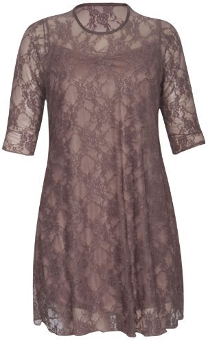 lace 3 4 sleeve dress - 6