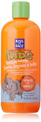 Kiss My Face Natural Kids Orange U Smart Bubble Wash, Bubble Bath and Body Wash, 12 Ounce Bottle