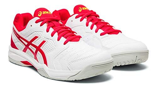 ASICS Gel-Dedicate 6 Women's Tennis Shoes, White/Laser Pink, 9 M US
