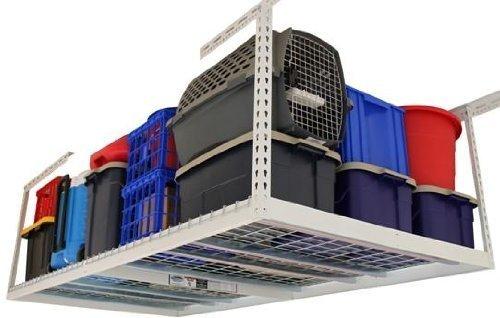 4 ft. x 8 ft. Garage Overhead Storage Rack (12 in. - 21 in. H/Hammertone) by MonsterRax by MonsterRax