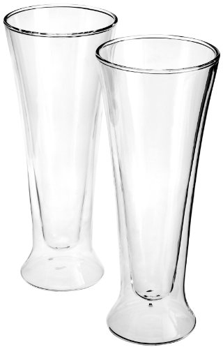 Luigi Bormioli Set of 2 Duos Pilsner Glasses, 15 oz.